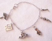 Reading Fan Girl, Downton Abbey, charm bracelet ,