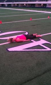 Alica Mckenna Johnson, Kristen Lamb, 40 yard line